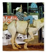 Bronc Riding Fleece Blanket