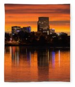 Broncos Sunrise Fleece Blanket