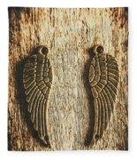 Bronze Angel Wings Fleece Blanket