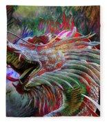 Bronze Dragon Head Fleece Blanket