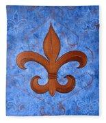 Bronze Fleur De Lis Fleece Blanket