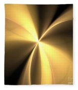 Bronze Gold Wings Fleece Blanket
