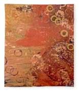 Bronze Oxidation Fleece Blanket