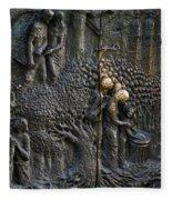 Bronze Sculptured Church Door - Slovenia Fleece Blanket