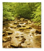 Bronze Stream Fleece Blanket