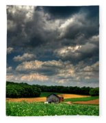 Brooding Sky Fleece Blanket