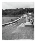 Brookfield, Vt - Floating Bridge 5 Bw Fleece Blanket