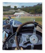 Brooklands From The Hot Seat  Fleece Blanket