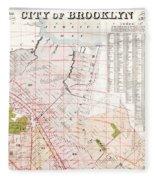 Brooklyn 1893 Map Fleece Blanket