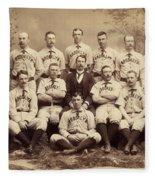Brooklyn Bridegrooms Baseball Team Fleece Blanket
