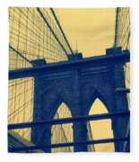 New York City's Famous Brooklyn Bridge Fleece Blanket