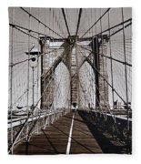 Brooklyn Bridge By Art Farrar Photographs, Ny 1930 Fleece Blanket
