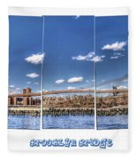 Brooklyn Bridge Pano  Fleece Blanket