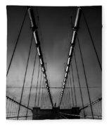 Brooklyn Bridge - Spider's Web Fleece Blanket