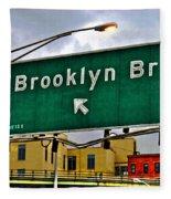 Brooklyn Bridge Thisaway Fleece Blanket