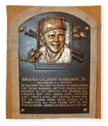 Brooks Robinson Hall Of Fame Plaque Fleece Blanket