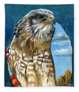 Brother Hawk Fleece Blanket