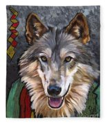 Brother Wolf Fleece Blanket
