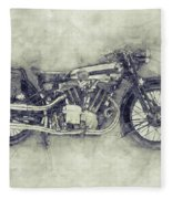Brough Superior Ss100 - 1924 - Motorcycle Poster 1 - Automotive Art Fleece Blanket