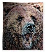 Brown Bear Fleece Blanket