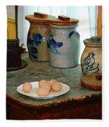 Brown Eggs And Ginger Jars Fleece Blanket