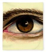 Brown Eye Fleece Blanket