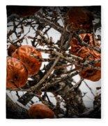 Brown Fruit Abstract Fleece Blanket