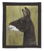 Brown Llama Profile Cathy Peek Farm Animal Art Fleece Blanket
