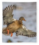 Brown Mallard Landing Fleece Blanket