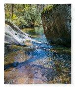 Brown Mountain Forest Fleece Blanket