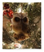 Brown Owl Fleece Blanket