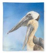 Brown Pelicans Fleece Blanket