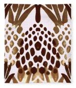 Brown Pineapple Fleece Blanket