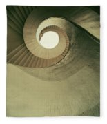 Brown Spiral Stairs Fleece Blanket