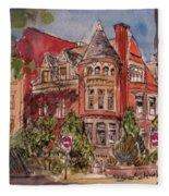 Brownstone On Corcoran Street Fleece Blanket