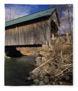 Brownsville Covered Bridge - Brownsville Vermont Fleece Blanket