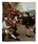 Bruegel, Peasant Dance Fleece Blanket