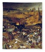 Bruegel: Triumph Of Death Fleece Blanket