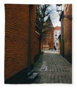 Bruges Orange Street Fleece Blanket