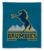 Brumbies Rugby Fleece Blanket