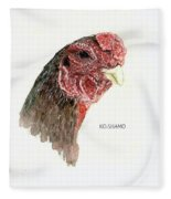 Bruno The Ko Shamo Rooster Fleece Blanket