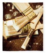 Brushes Of Interior Decoration Fleece Blanket