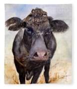 Brutus - Black Angus Cattle Fleece Blanket