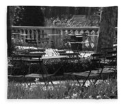 Bryant Park In Black And White Fleece Blanket