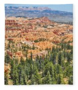 Bryce Canyon Fairyland Vista Point Fleece Blanket