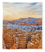 Bryce Canyon Sunset Fleece Blanket