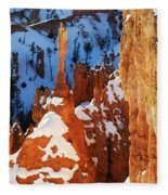 Bryce Canyon Winter 4 Fleece Blanket