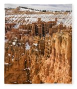 Bryce Canyon Winter Panorama - Bryce Canyon National Park - Utah Fleece Blanket