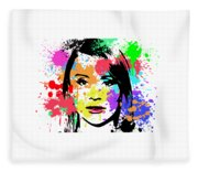 Bryce Dallas Howard Pop Art Fleece Blanket