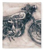 Bsa Gold Star - 1938 - Motorcycle Poster - Automotive Art Fleece Blanket